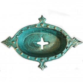 Saboneteira em Ferro Verde