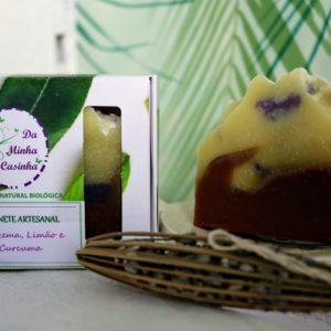 Sabonete Artesanal Curcuma, Lavanda e Limão