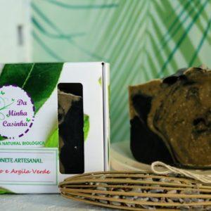 Sabonete Artesanal  Argila Verde e Carvão Vegetal